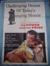 Power and the Prize, Original Movie Poster, Robert Taylor, Mary Astor, '56